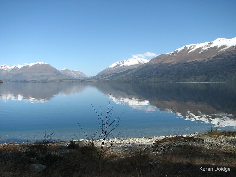 Reflections on Wakatipu NZ by Karen Doidge
