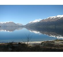 Reflections on Wakatipu NZ Photographic Print