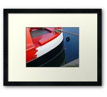 narrowboat hull Framed Print