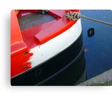 narrowboat hull Canvas Print
