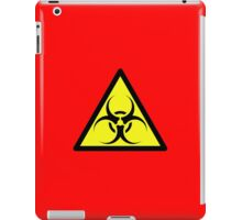 ZOMBIE APOCALYPSE HAZMAT SIGN by Zombie Ghetto iPad Case/Skin