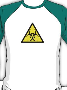 ZOMBIE APOCALYPSE HAZMAT SIGN by Zombie Ghetto T-Shirt