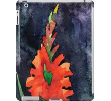 watercolor drawing of red gladiolus iPad Case/Skin