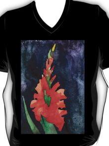 watercolor drawing of red gladiolus T-Shirt
