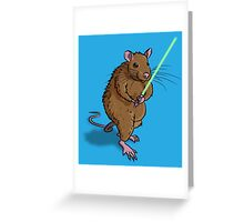 Rat Jedi Greeting Card