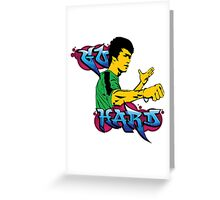 Go Hard Graffiti Greeting Card