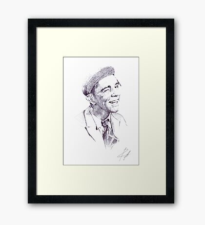 Sir Norman Wisdom Framed Print