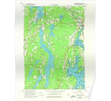 Maine USGS Historical Map Waldoboro West 807269 1965 24000 Poster