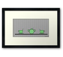 Tea set 2 Framed Print