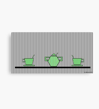 Tea set 2 Canvas Print