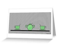 Tea set 2 Greeting Card