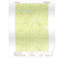 Maine USGS Historical Map Wallagrass Lakes 103072 1985 24000 Poster