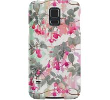 Rainbow Fuchsia Floral Pattern - with grey Samsung Galaxy Case/Skin
