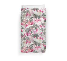 Rainbow Fuchsia Floral Pattern - with grey Duvet Cover