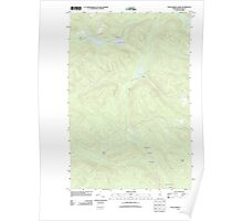 Maine USGS Historical Map Wallagrass Lakes 20110831 TM Poster
