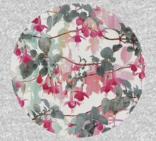 Rainbow Fuchsia Floral Pattern - with grey Baby Tee