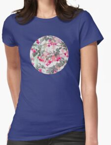 Rainbow Fuchsia Floral Pattern - with grey T-Shirt