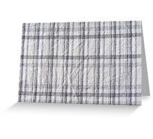 Gray checked creased cotton cloth Greeting Card