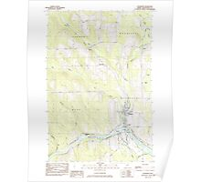 Maine USGS Historical Map Washburn 103076 1984 24000 Poster