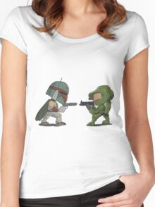 HUNTER VS SOLDIER Women's Fitted Scoop T-Shirt
