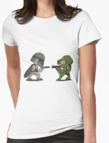 HUNTER VS SOLDIER Womens Fitted T-Shirt