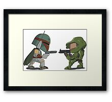 HUNTER VS SOLDIER Framed Print