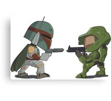 HUNTER VS SOLDIER Canvas Print