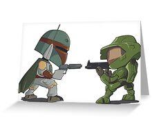 HUNTER VS SOLDIER Greeting Card