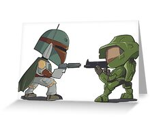 HUNTER VS SOLDIER Greeting Card