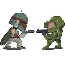 HUNTER VS SOLDIER Photographic Print