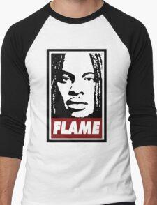 Flame Men's Baseball ¾ T-Shirt