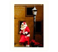 Santa Wants his Cookies... Art Print