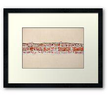 Red bricks broken wall Framed Print