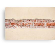 Red bricks broken wall Canvas Print