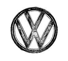 VW Logo Photographic Print