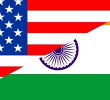 usa india Sticker