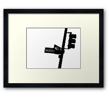 Cnr of Wall st and Broadway (Silhouette) Framed Print