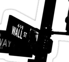 Cnr of Wall st and Broadway (Silhouette) Sticker