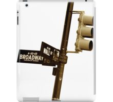 Cnr of Wall st and Broadway (Sepia) iPad Case/Skin