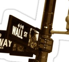 Cnr of Wall st and Broadway (Sepia) Sticker