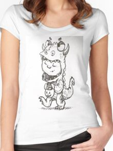 Dinosaur Child  Women's Fitted Scoop T-Shirt