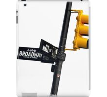 Cnr of Wall st and Broadway (Colour) iPad Case/Skin