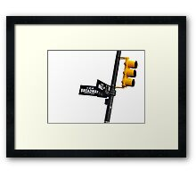 Cnr of Wall st and Broadway (Colour) Framed Print