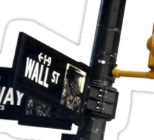 Cnr of Wall st and Broadway (Colour) Sticker