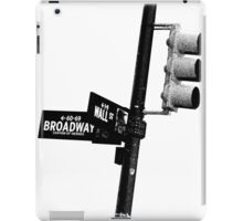 Cnr of Wall st and Broadway (Grain) iPad Case/Skin