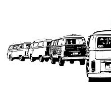 VW Convoy Photographic Print