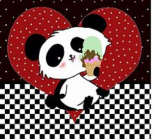 Pandas like icepops kawaii panda cartoon by Cartoonistlg