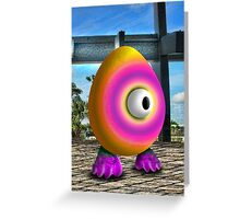 Saturated Egg Man Greeting Card