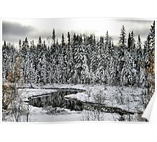 White Winter River Poster