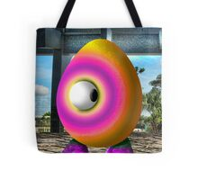 Saturated Egg Man Looking the other Way Tote Bag